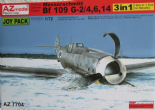 AZM7704  1/72 Messerschmitt Bf 109G-2 / Bf 109G-4 / Bf 109G-6 / Bf 109G-14 3 in 1 Joy Pack (3 kits!)